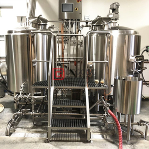 10HL Advanced Home Brewing Equipment Equipo de cervecería comercial Industrial combinado de dos recipientes Brewhouse